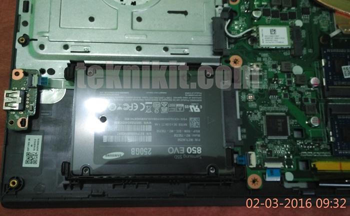 SSD Samsung Sudah Terpasang ke Laptop