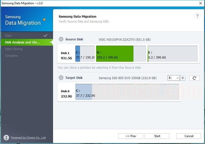 Samsung SSD EVO Terdeteksi Data Migration