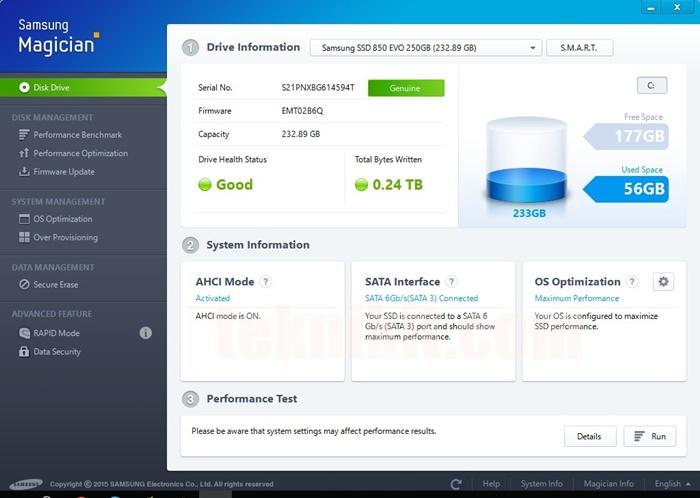 Software Samsung Magician Untuk SSD