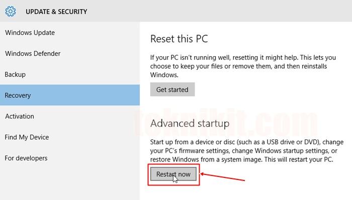 Cara Disable Driver Signature Windows 10