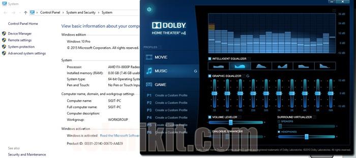 Dolby Home Theater v4 Acer Aspire E5-552G