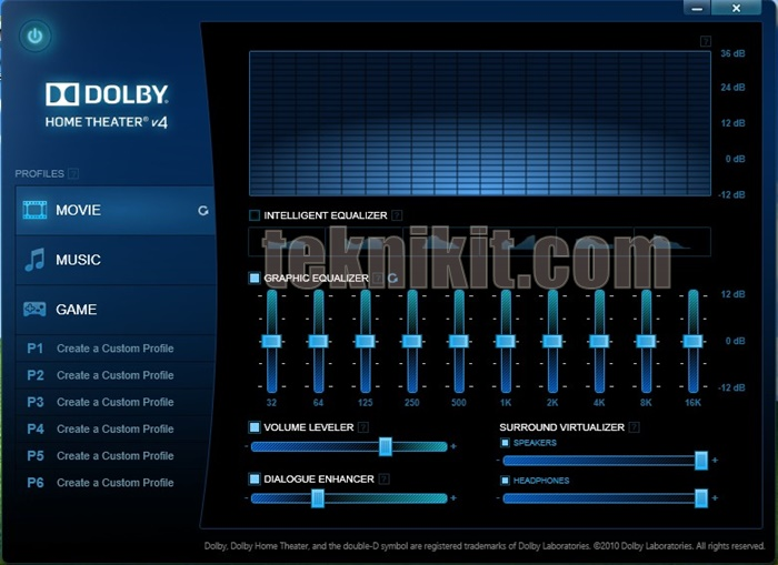 Install Dolby Home Theater v4 Windows 10
