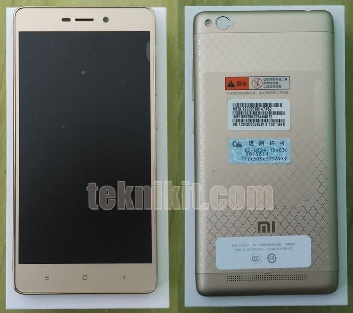 Tampilan Smartphone Xiaomi Redmi 3