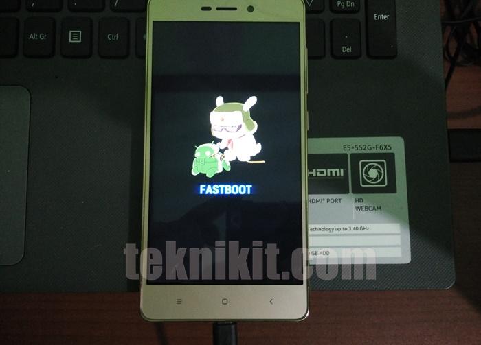 Fastboot Mode Xiaomi Redmi 3