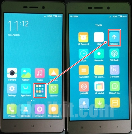 Flashing ROM Xiaomi Redmi 3 Tanpa PC Lewat Updater