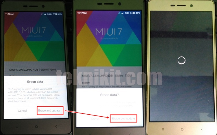 Proses Update Redmi 3 Tanpa PC