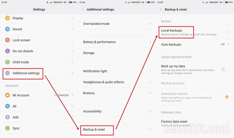 Cara Backup Data Aplikasi Semua Ponsel Xiaomi