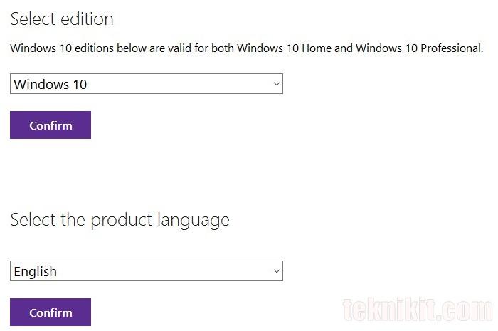 Cara Download File ISO Windows 10