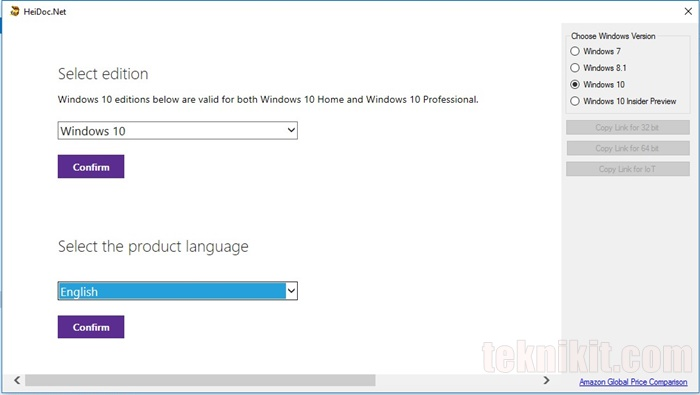 Cara Download ISO Windows 10 Menggunakan Windows ISO Downloader