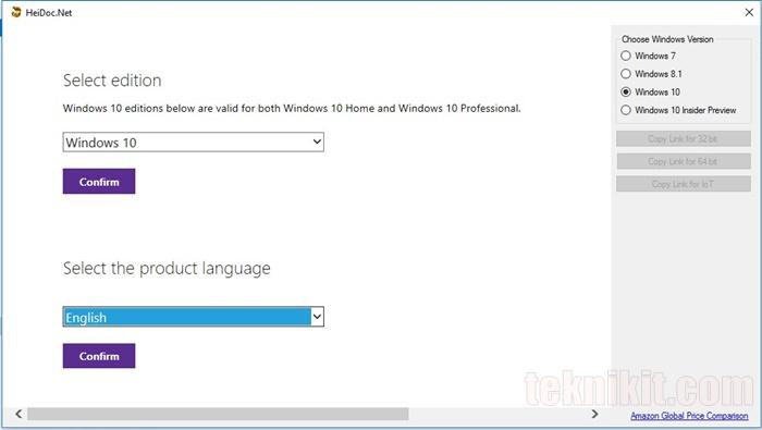 Cara Download ISO Windows 10 Menggunakan Windows ISO Downloader