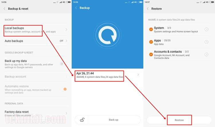 Cara Restore Data Aplikasi All Ponsel Xiaomi