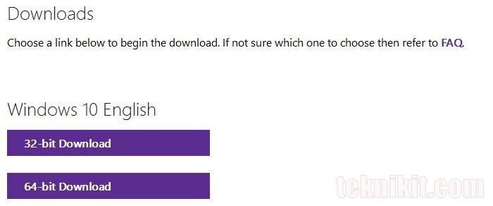 Download ISO Windows 10 English 32bit 64bit