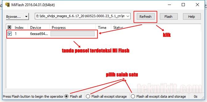 Flashing MIUI 8 Menggunakan Mi Flash Tool