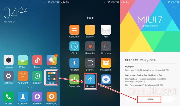 Update MIUI 8 Tanpa PC Lewat Updater Xiaomi Redmi 3