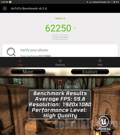 Hasil Antutu Benchmark Xiaomi Redmi 4 Prime
