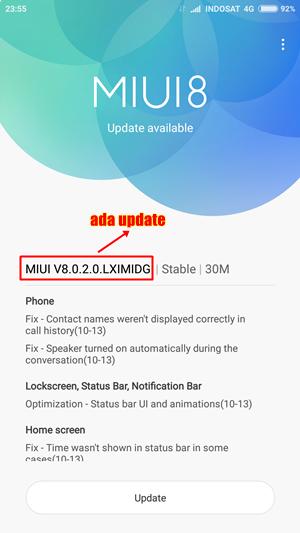 Muncul Pemberitahuan Update ROM Terbaru