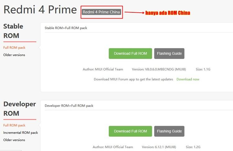 ROM China Xiaomi Redmi 4 Prime