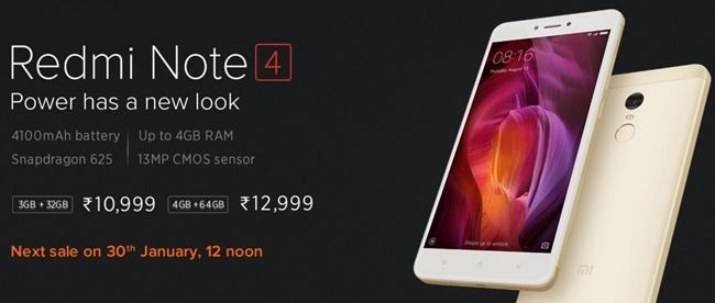 Penjualan Xiaomi Redmi Note 4 Snapdragon