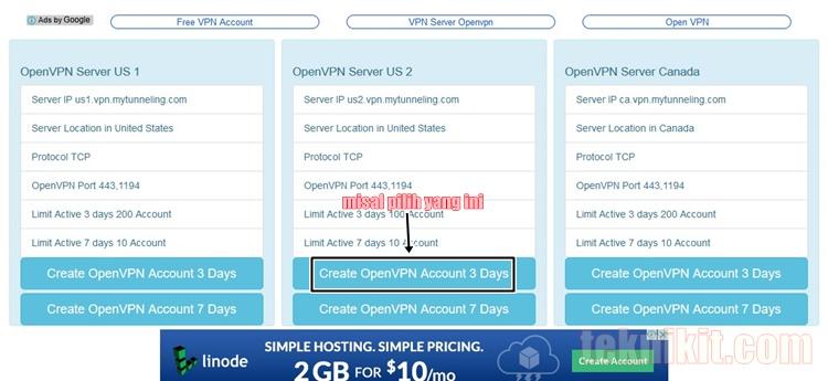 Cara Mudah Membuat Akun VPN Gratis