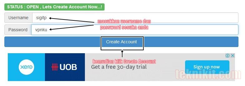 Membuat Akun VPN Gratis di Mytunneling