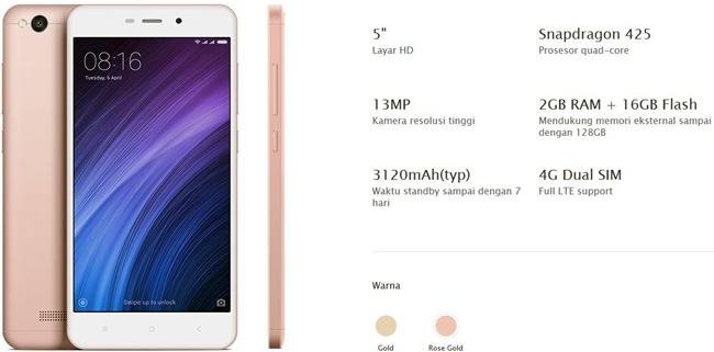 Xiaomi Redmi 4a Garansi Resmi Erajaya