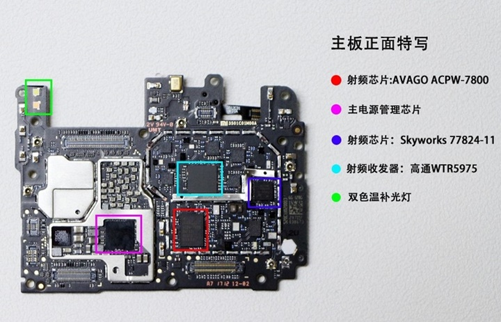 Beberapa Nama Bagian Mainboard Xiaomi Mi6