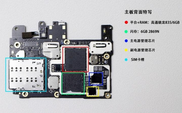 Penjelasan Nama Komponen Mainboard Xiaomi Mi6