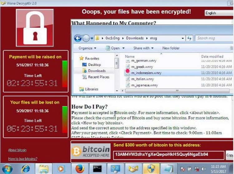Contoh Ransomware WannaCry