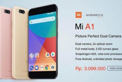 Xiaomi Mi A1 Harga di Indonesia