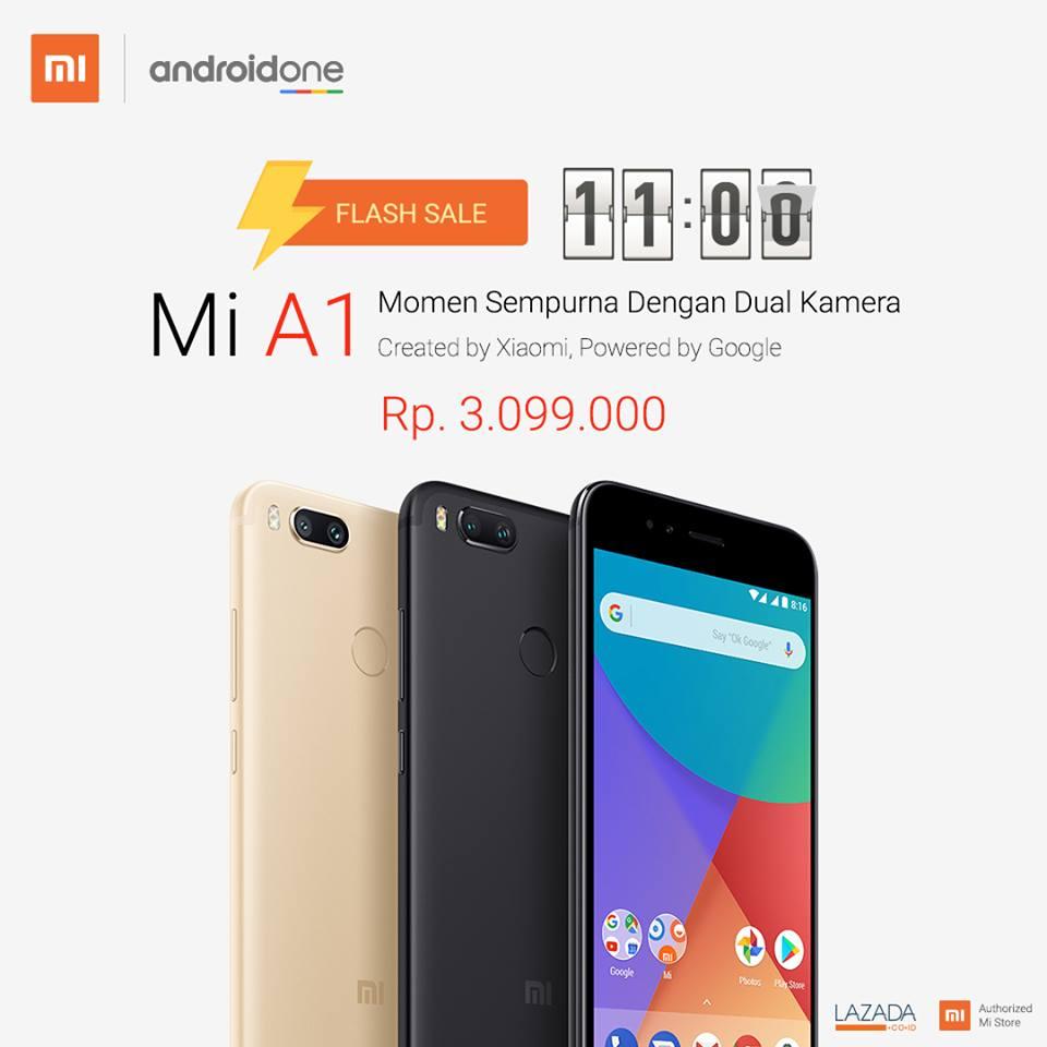 Flash Sale Xiaomi Mi A1 di Indonesia Lazada