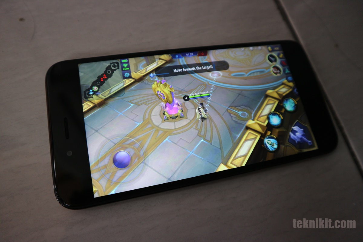Game Mobile Legends di Mi A1 Lancar