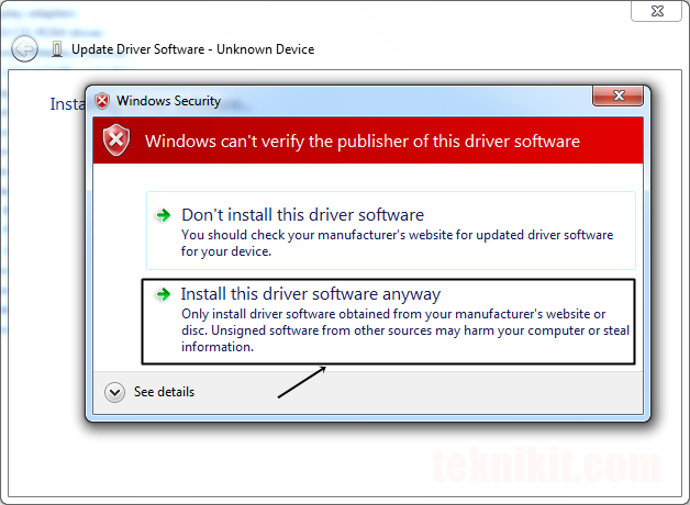 Install Driver Huawei B315s Error