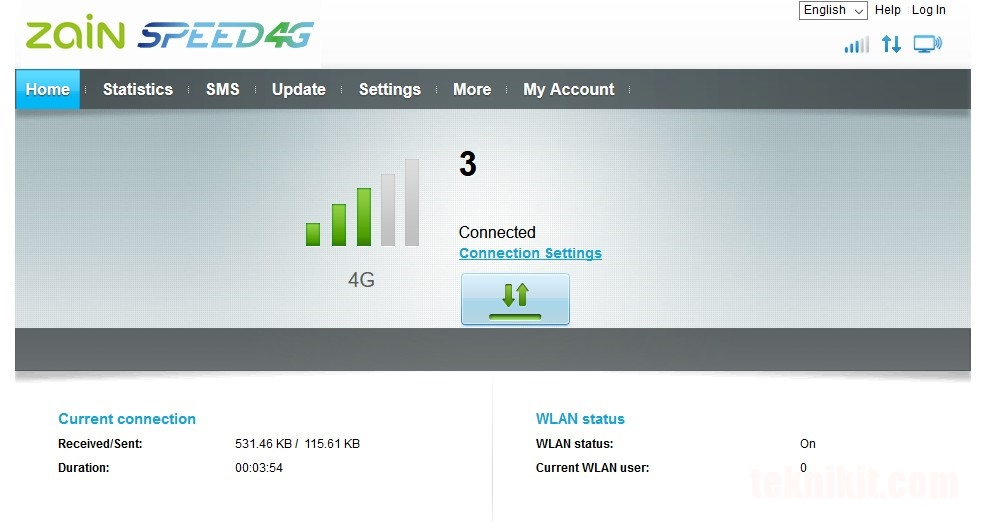 Tampilan Browser UI Router Huawei B315s Setelah Flashing