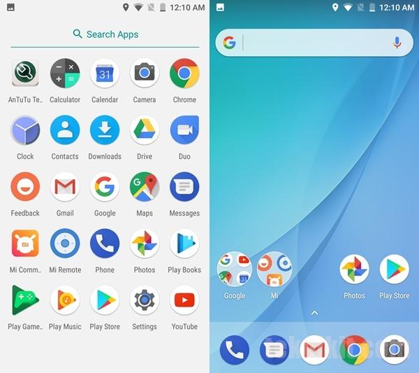 Tampilan UI Android One Xiaomi Mi A1