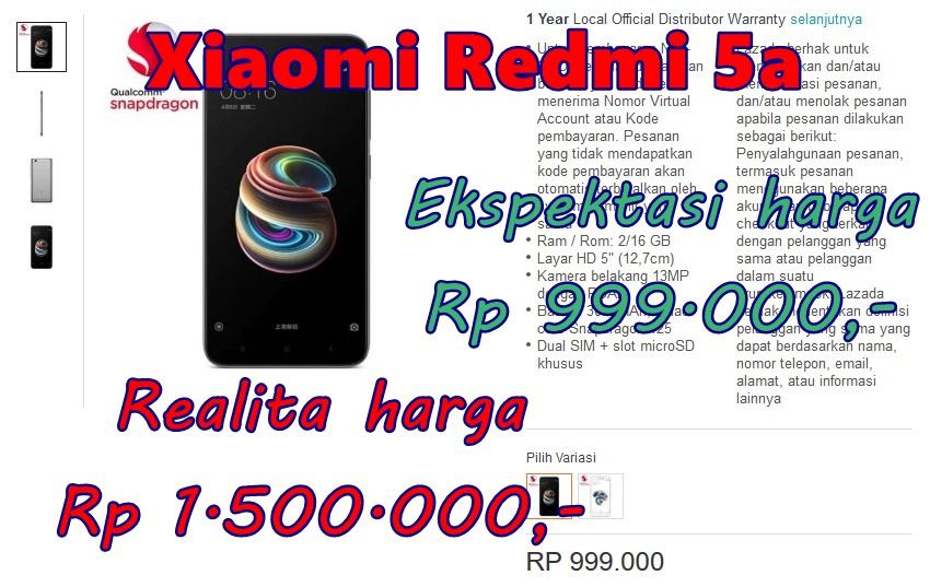 Xiaomi Redmi 5a Mahal atau Murah