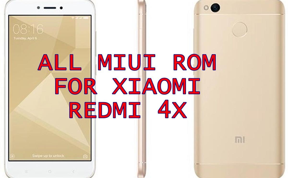 Download ROM Xiaomi Redmi 4x Lengkap