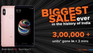 Flash Sale Redmi Note 5 Pro India Sukses