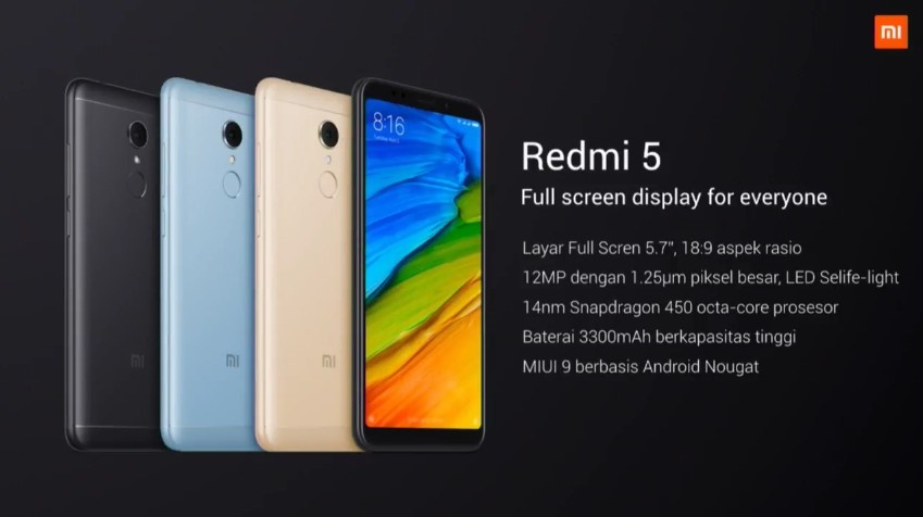 Spesifikasi Redmi 5