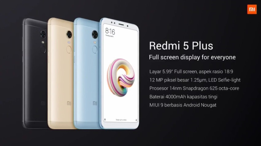 Spesifikasi Redmi 5 Plus