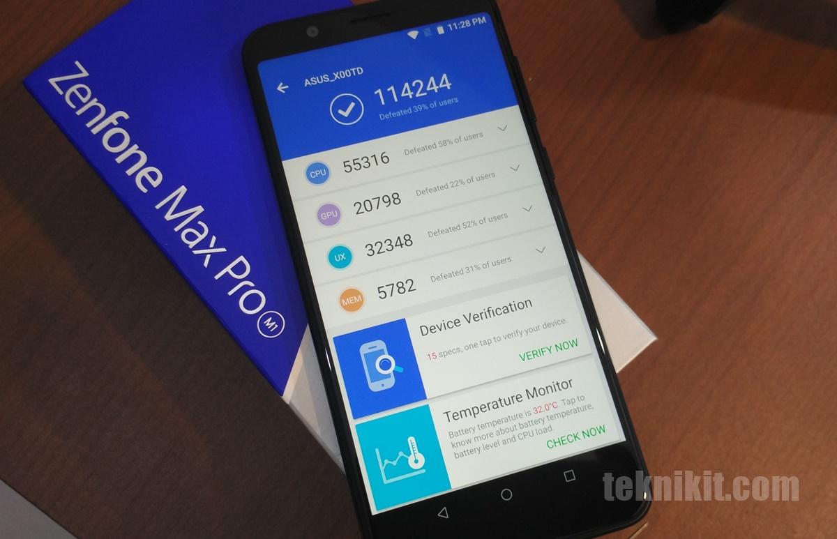 Antutu Benchmark Asus Zenfone Max Pro M1