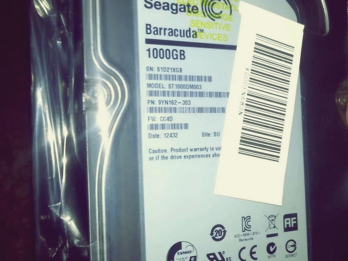 Hardisk Seagate Barracuda 1TB