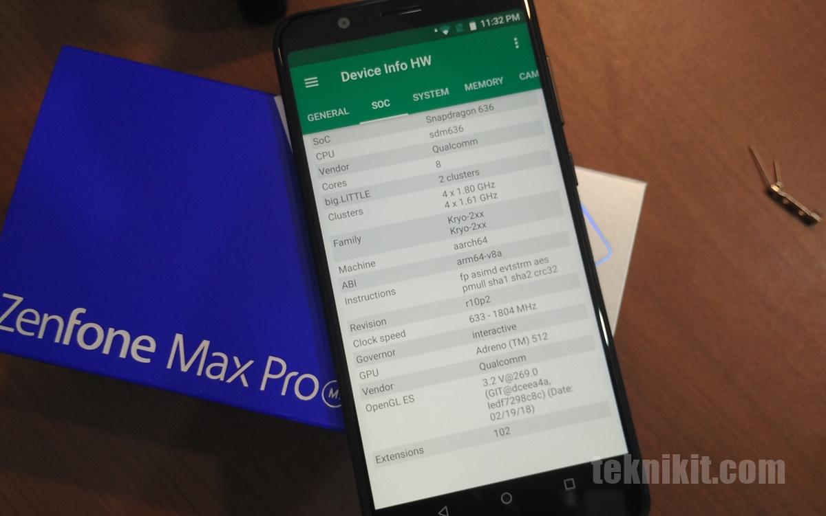 Snapdragon 636 Asus Zeenfone Max Pro M1