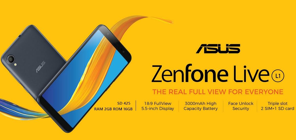 Spesifikasi Asus Zenfone Live L1 Smartphone Murah 1 Jutaan