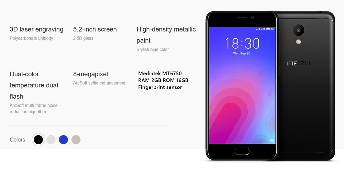 Spesifikasi Meizu M6 Smartphone Murah 1 Jutaan