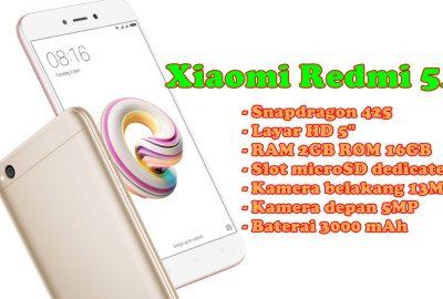 Spesifikasi Redmi 5A Smartphone 1 Jutaan
