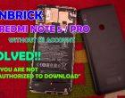 Unbrick Redmi Note 5 Note 5 Pro