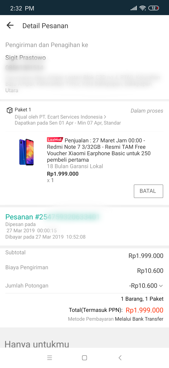Dapat Flash Sale Redmi Note 7