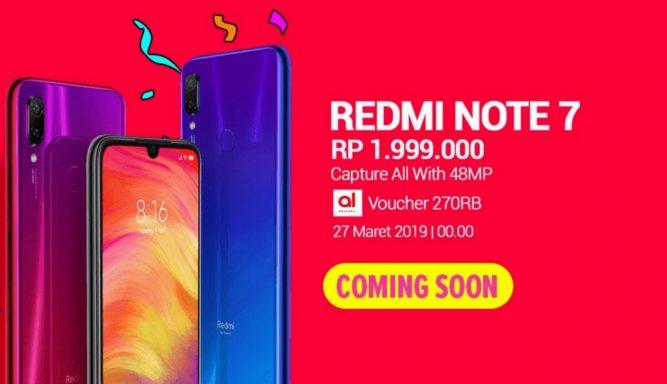 Flash Sale Redmi Note 7 Lazada