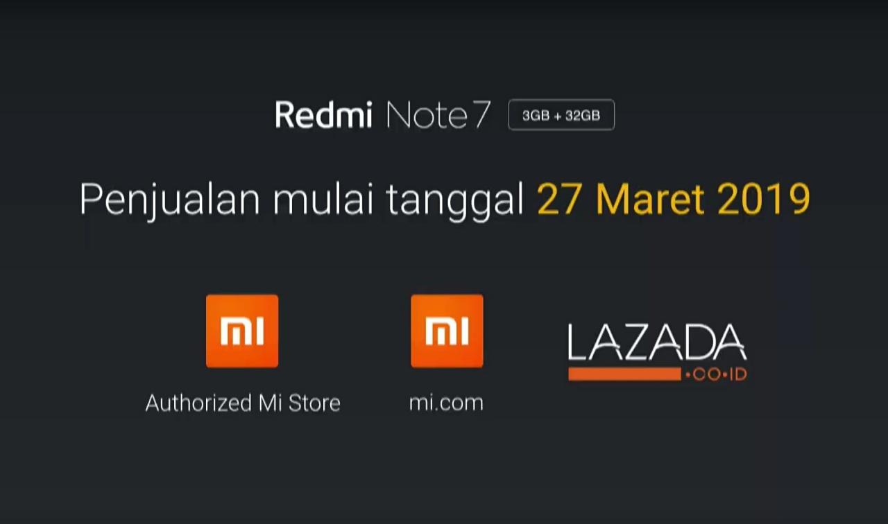 Penjualan Redmi Note 7 Indonesia