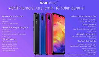 Spesifikasi Redmi Note 7 Indonesia